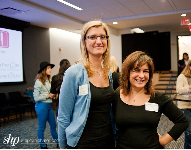 CEO at ConsumerBell, Ellie Cachette, pictured below in blue, was co-host with Margaret Wallace, CEO of Playmatics at this event.