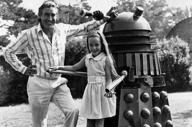 Terry Nation -- creator of the Daleks -- with his daughter Rebecca.