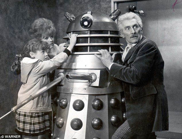 Dr. Who and the Daleks  with Peter Cushing.  A 1965 film.