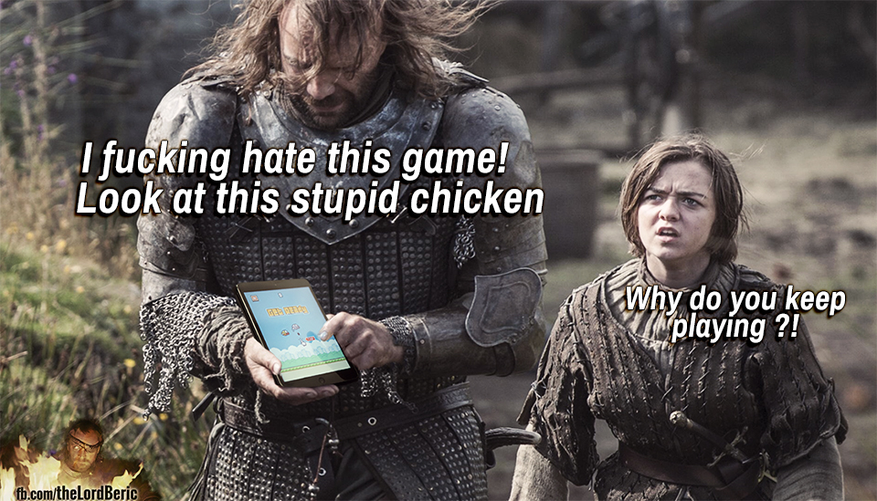 the hound and his chicken game of thrones