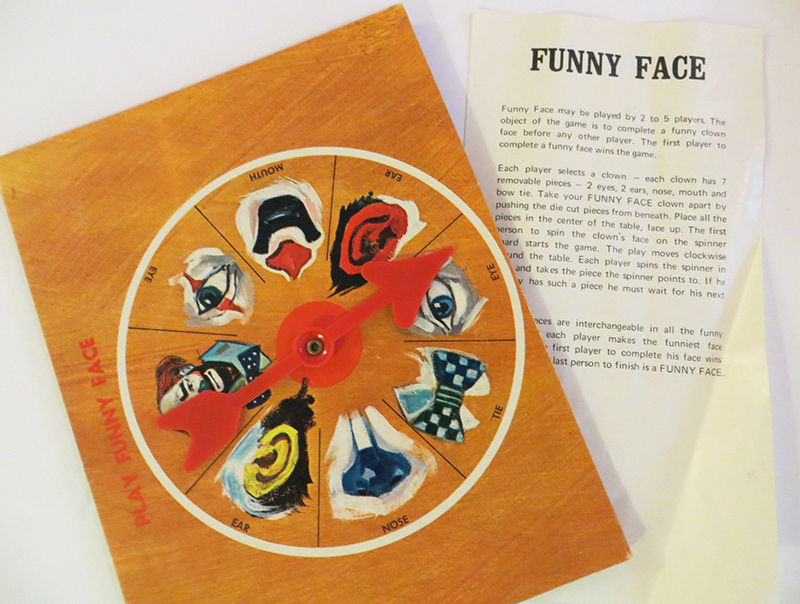 "Hello and welcome to a private showing of the Museum of Unsettling Toys & Games. Each item featured in this collection represents a questionable moment in the development of toys and games throughout history. Featured Item: The ""Funny Face"" Board Game"