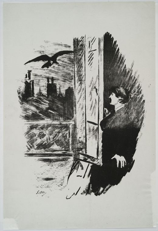 Image Title:  [At the window.] Creator: Manet, Edouard, 1832-1883 -- Illustrator