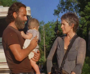 """You've just watched """"The Distance"""" on AMCTV's The Walking Dead — now it's time to have a giant spoonful of apple sauce and debrief with your fearless hosts. What is the deal with Aaron and his lackluster photography skills? Will Michonne ever find a place to hang her katana and get some rest? Is Alexandria going to become home sweet home for our crew — or home sweet nightmare?"""